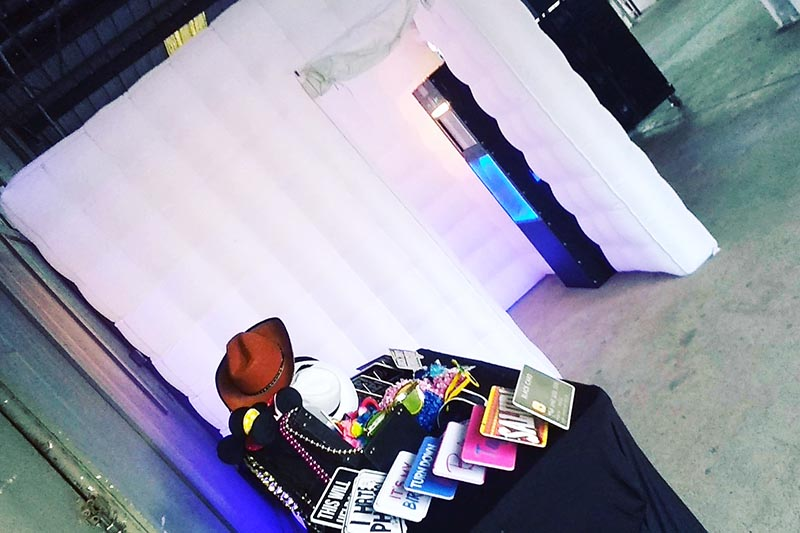 LED inflatable enclosed photo booth